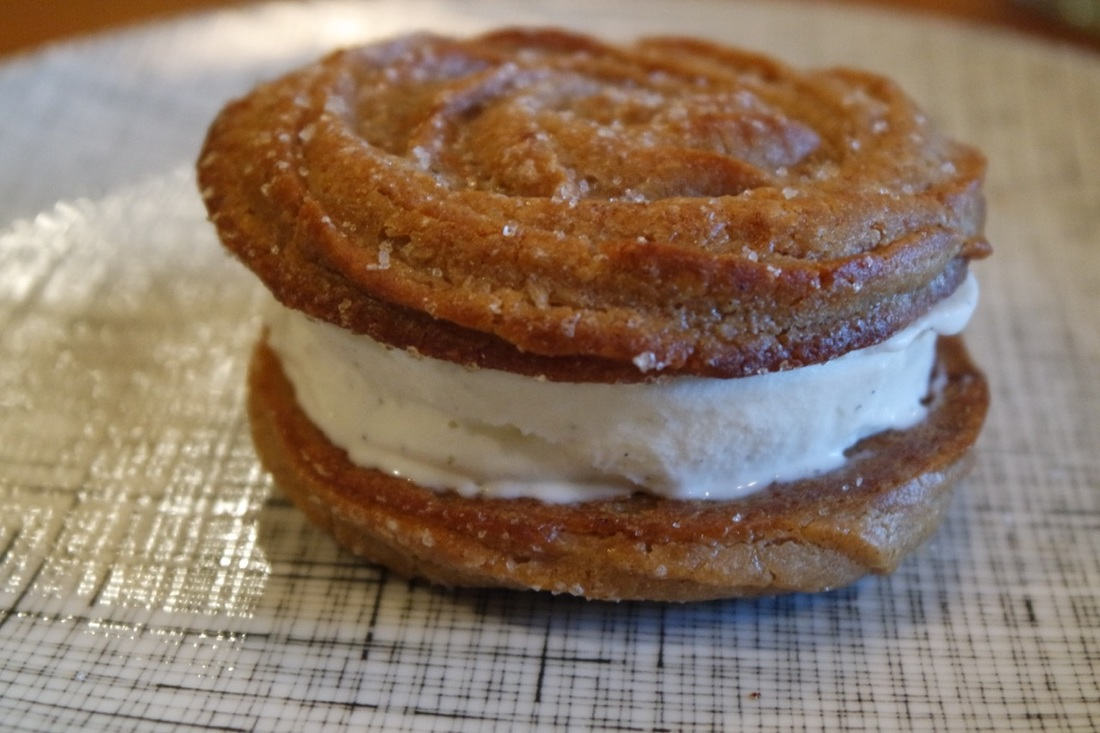 Churro Ice Cream Sandwiches